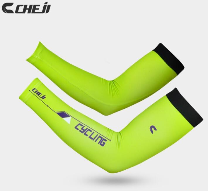 Cheji Cycling Cuff Sleeve Cover Bike Bicycle UV Sun Protection Arm Warmers Black