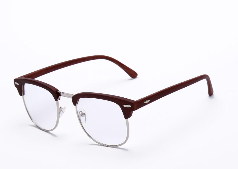 8d8bbcd781d0 Detail Feedback Questions about Vintage Eyeglasses Women Semi rimless  reading Plain Glass Spectacles frame classic Men Brand Designer rivet Male  Eyewear 6 ...