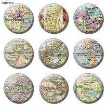 Autocollants magnétiques pour réfrigérateur, carte Souvenir du parc de la montagne, du Vermont, Palo Alto, Eugene, Baltimore, de la saint-zélande, du Tennessee et de l'albaine
