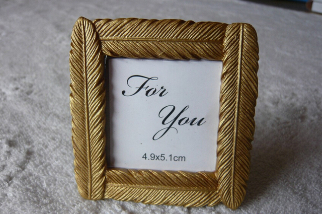 10pcs/Lot+Creative Design Gold Feather Picture Frame Place Card ...