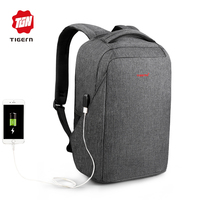 2017 Tigernu Anti Thief 15 6inch Laptop Backpack USB Charging Youth Backpack For Women Male Bagpack