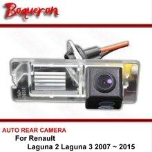 Для Renault Laguna 2 Laguna 3 2007 ~ 2015 Ночное Видение заднего вида Камера Реверсивный Камера автомобиль обратно Камера HD CCD Широкий формат
