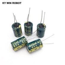 10 adet Alüminyum elektrolitik kondansatör 470 uF 63 V 13*20mm frekuensi tinggi Radyal Elektrolitik kondansatör