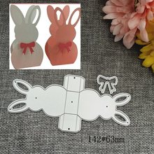 3D Rabbit Frame gate box Metal Cutting Dies Stencils for DIY Scrapbooking Stamp/photo album Decorative Embossing DIY Paper Cards(China)