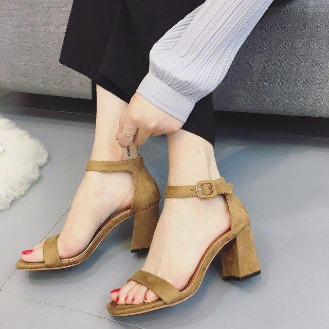 47b5bb26 Las nuevas Mujeres de la Moda zapatos de Tacón Alto Del Dedo Del Pie Abierto  Atractivo ...
