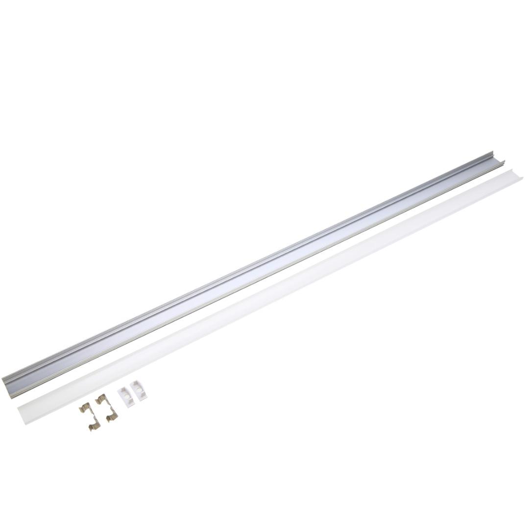 30/50cm U/V/YW Style Aluminum LED Strip Light Bar Channel Holder Cover Case End Up For LED Strip Light Lamp Light Accessory Set