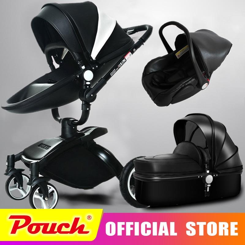 Aulon оюн длинные детские тележки корковых bi-directional высокого вид амортизатор Детские коляски может сидеть в корзину 3