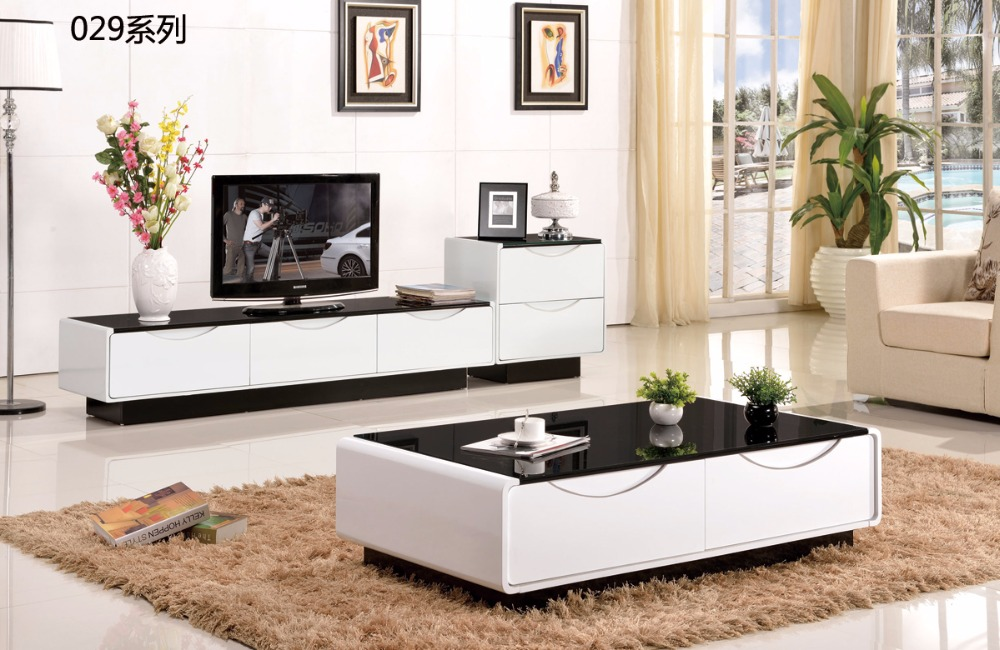 CJTV029 Minimalist Modern living room furniture dinning table chest of drawers TV stand cabinet coffee tea table furniture set furniture parlor marble combination wood adjustable tv cabinet coffee table