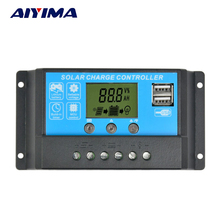 AIYIMA Flexible Solar Panel Controller 12V24V15A Painel Solar Battery Charger Regulator Switching Controller LCD Displyer