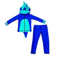 Baby Boys Wetsuit Beachwear Surf Swim Diving Suit For Kids Two Piece Cartoon Swimsuit Hooded UV Protection Swimwea
