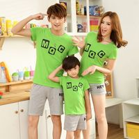 Family Mother and Daughter Summer Clothing Letter Pattern Family t shirt Father and Son Clothes 2017 Family Matching Outfits