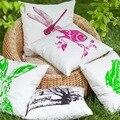 100% de algodón impreso Verano al aire libre animal búho rana libélula jardín fundas de colchón funda de almohada decorativa throw pillow