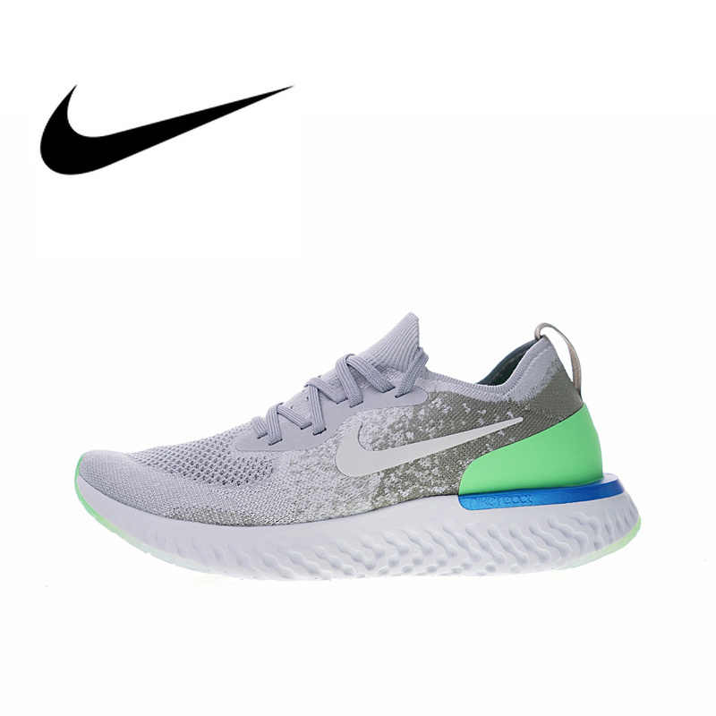 cc1dee9dd5cbb Original Authentic Nike Epic React Flyknit Men s Running Shoes Sport  Outdoor Sneakers Designer Athletic 2018 New
