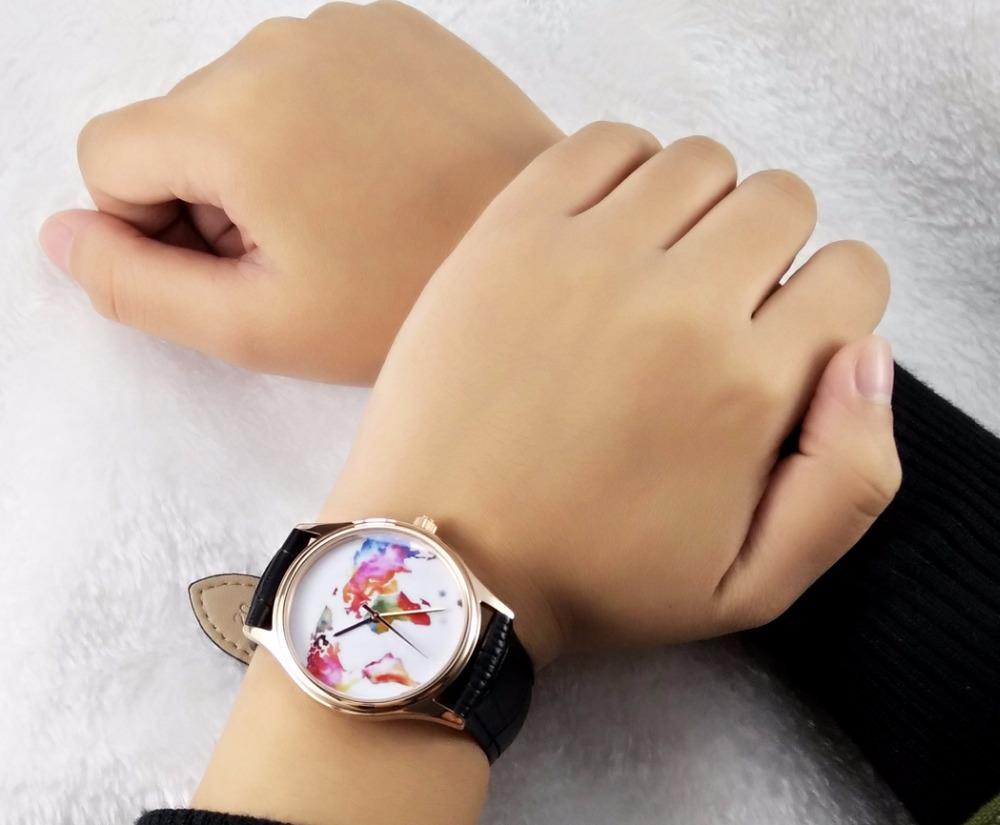 Colorful world map watch rose gold free shipping worldwide welcome colorful world map watch rose gold free shipping worldwide welcome wholesale in lovers watches from watches on aliexpress alibaba group gumiabroncs Image collections