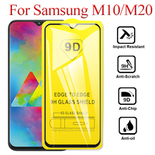 2pcs/lot 9D Full Glue Cover Tempered Glass For Samsung Galaxy M20 M10 M 20 10 Screen Protector Film