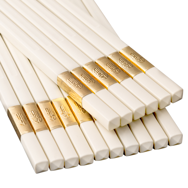 10 Set 5 Pair Chinese Japanese Sushi Reusable Wooden Chopsticks Multi Pattern