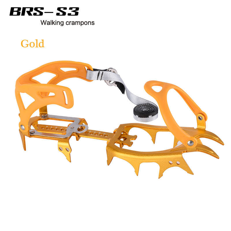 14 Teeth Aluminium Alloy Bundled Crampons Ice Gripper Outdoor Ice Climbing kits Ice Gripper For Climbing Snow Boots BRS-S3 1 pair ice gripper slipproof strong ice crampons skiing crampons shoes snow walker for snow mountain climbing walking bag