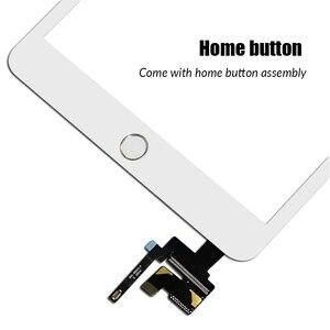 Image 4 - AAA تعمل باللمس لباد مصغرة 3 2 Mini3 Mini2 اللمس محول الأرقام زجاج الشاشة الرئيسية زر مع IC Conector ل باد البسيطة 3 2