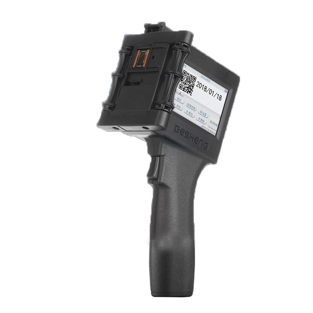 Tragbare Handheld Inkjet Drucker Bar Code QR Code Druck Maschine für Kunststoff, Textil, Metall, Holz, glas, Stein, Zement Wand