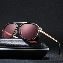 Luckace Steampunk Stark Sunglasses Men Coating Retro Vintage Designer Sun glasses Oculos Masculino Gafas de все цены
