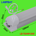 T8 integrated 4ft(1.2m) 24W led tube bulb with accessory ceiling fixture  lamps lighting bars 120leds  85-277V