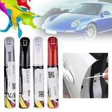 Rotulador de pintura para arañazos en pintura de coche, rotulador de pintura resistente al agua, cuidado de la banda de rodadura del neumático del coche, negro, blanco, rojo y plateado