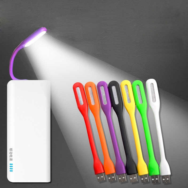 Novelty Luminaria Mini USB LED Book Lights Reading Lamps Night Lights Gift for Kids Children Power Bank Laptop Notebook PC