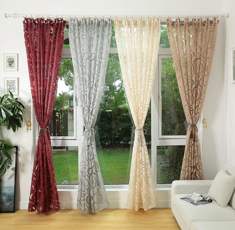 Modern design jacquard window curtain for home drapes window treatments  blinds(China)