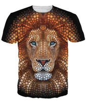 Lion Face T-Shirt 3d animal summer t shirt graphic t-shirts hip hop outwear fashion clothing womne tops tees(China)
