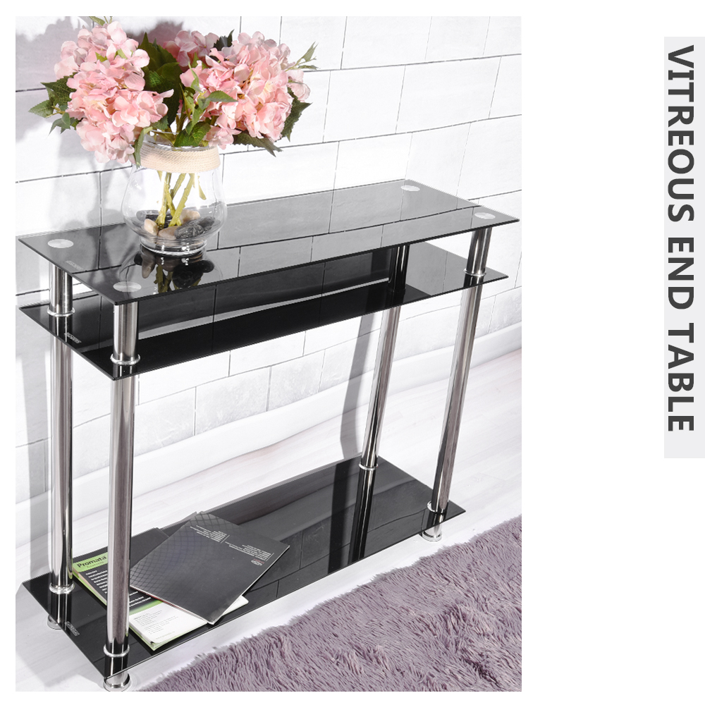 Modern French Style Tempered Glass Vitreous End Table Chrome Console Table  Living Room Furniture Dropshipping  In Coffee Tables From Furniture On ...