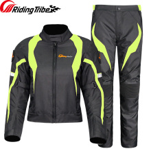 Women Motorcycle Sets Jacket+Motorcycle Pants Breathable Racing Jacket Lovers Suits Riding Clothing Set