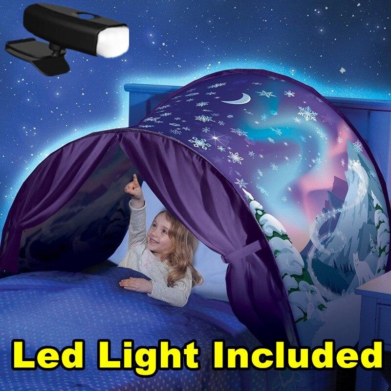 NUR $12,99 Traum Zelte Mit Led Licht Einhorn Raum Winter Dinosaurier Twin Größe Kinder Kid Geburtstag Weihnachten Geschenk