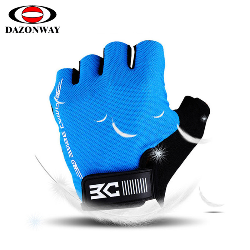Summer Half Finger Cycling Gloves Breathable Shockproof Non-slip Gloves For Bicycle Guantes Ciclismo Men Women Bike Glove S~XL