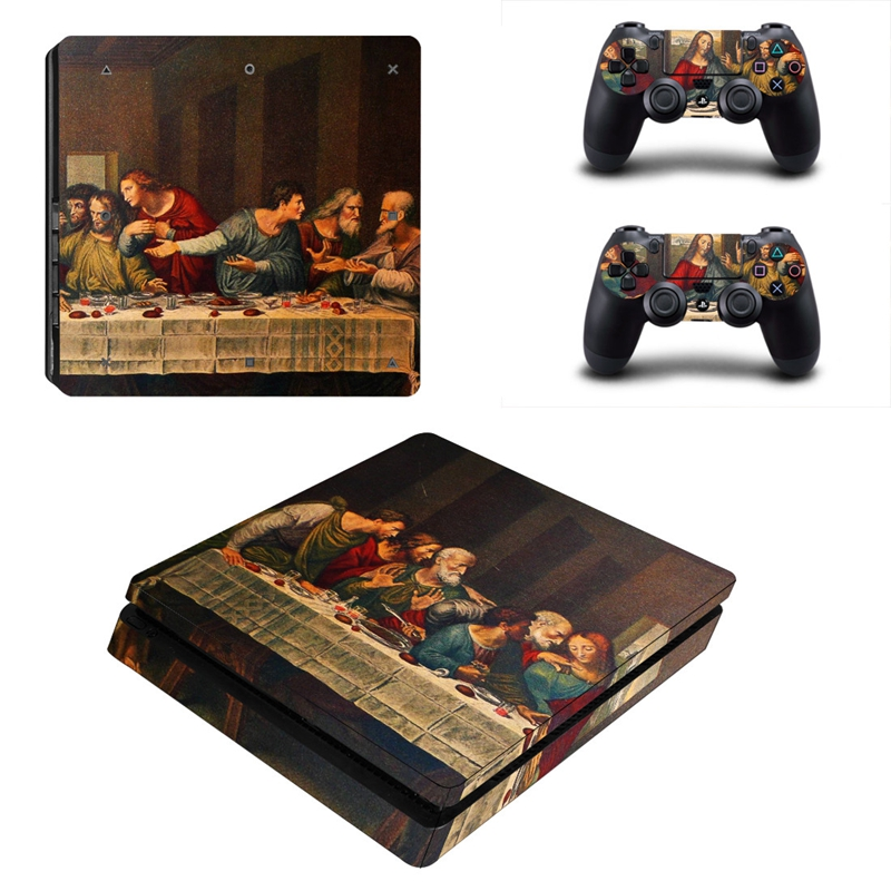 HOMEREALLY PS4 Slim Skin The Last of Us oil painting Sticker Cover For Sony Playstation 4 Slim ...