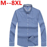 10XL 8XL 6XL 5XL Men S Flannel Plaid Shirts Dress 2017 Male Casual Warm Soft Comfort