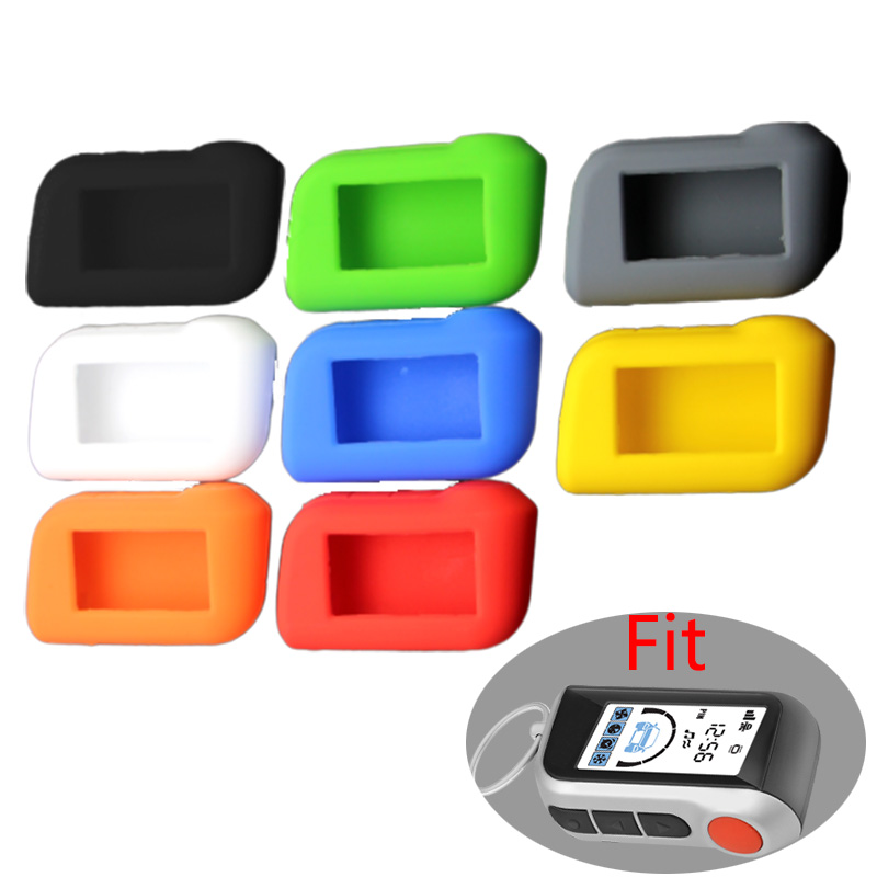 A93 A96 A63 Keychain Silicone Cover Key Case For Starline A93 Two Way Car Alarm Remote Controller LCD Transmitter