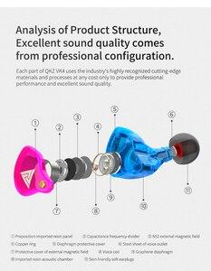 Image 4 - QKZ VK4 Trasduttore Auricolare Metallico 3.5 MILLIMETRI di Sport di Gioco Auricolare Auricolari Auricolari Musicali HiFi Con Il Mic Per il iPhone Samsung Xiaomi