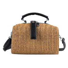 Summer woven beach handbag lady Barbie rattan womens Sac Bohemia ladies shoulder bag straw