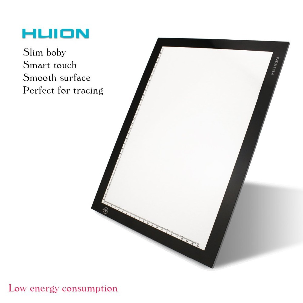 Huion tattoo light box ultra thin tracing table pad with for Html table padding