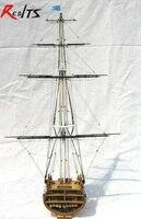 RealTS классика Парусник модель USS. Constitution (раздел) 1794 деревянный корабль модель