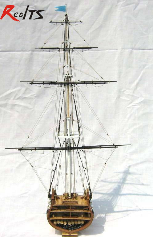RealTS Classics sailboat model USS.Constitution (section) 1794 wooden ship model sagitally section model about tissue decomposition model for doctor patient communication model with magnetic