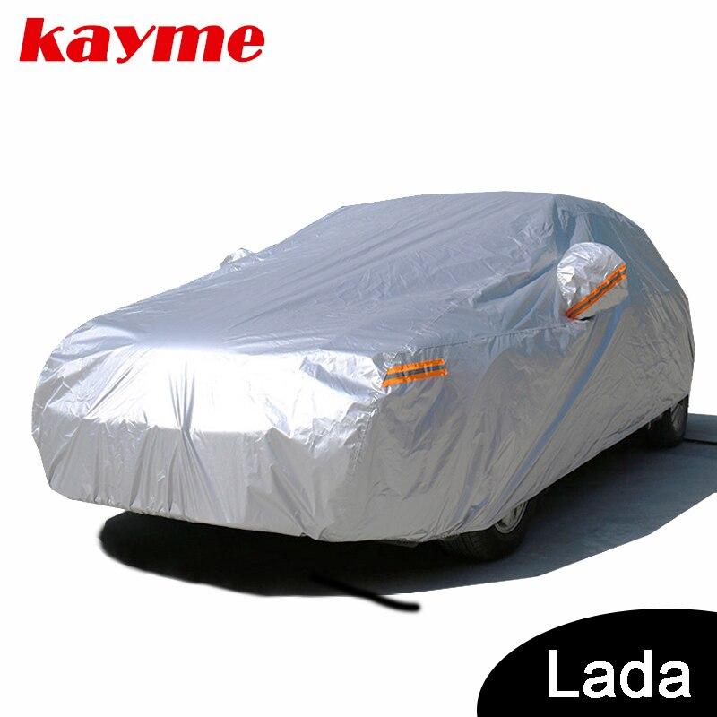 Kayme carro cobre tampa de proteção solar ao ar livre à prova d' água para o carro para lada granta Priora Kalina Lada Niva 4x4