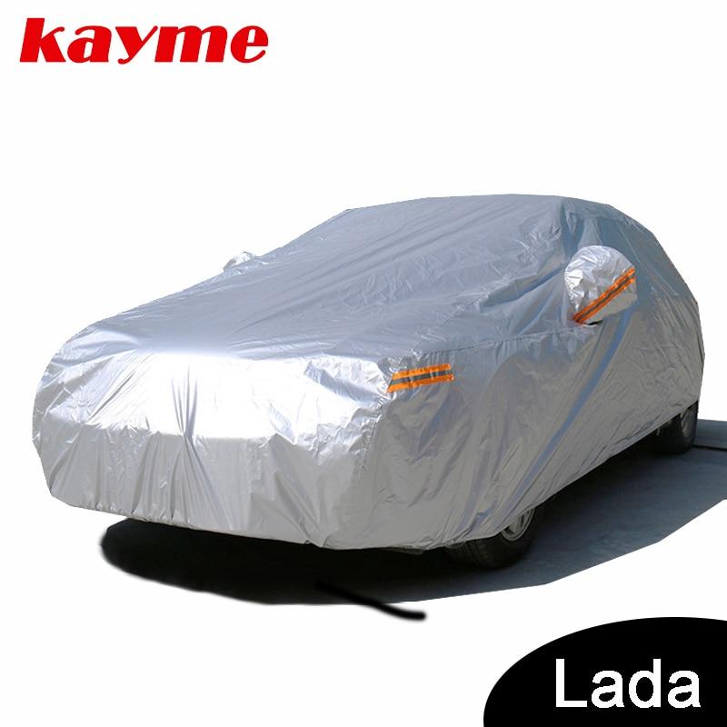 Kayme wasserdichte autoplanen outdoor sonnenschutz für auto für lada lada niva 4x4 priora granta kalina largus vesta 2110