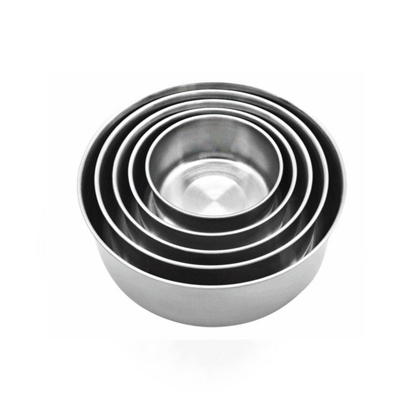 Round Shape Preservation Bowls Tools Stainless Steel Kitchen Dinnerware Food Container Lunch Box silver size5 5