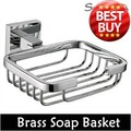Free Shipping Bathroom Accessories Product Solid Brass Copper Chrome Soap Basket Soap Dish Holder Soap Box-Wholesale-99004