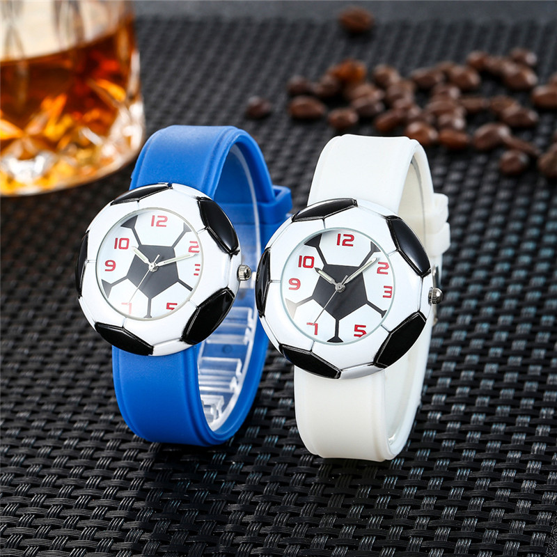 67968bc0a Soccer Pattern Quartz Watch Uniset Sport Wristwatches 2018 Football Workd Cup  Football Soft Comfortable Watch Gift For Men Teens