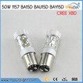 2x50 W S25 1157 Bay15D Baz15D Ba15D Lâmpada LED P21/5 W Luz de Freio Acender a luz do Sinal De Estacionamento de Backup Do Reverso Do Carro luz