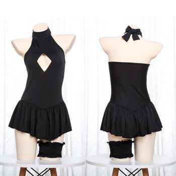 e4c19720b73 Saber Fate co Cos Сабер одежда аниме Fate Grand косплэй костюм купальник  для обувь девочек черные пикантные боди для женщин одежда Заплыва Купальники