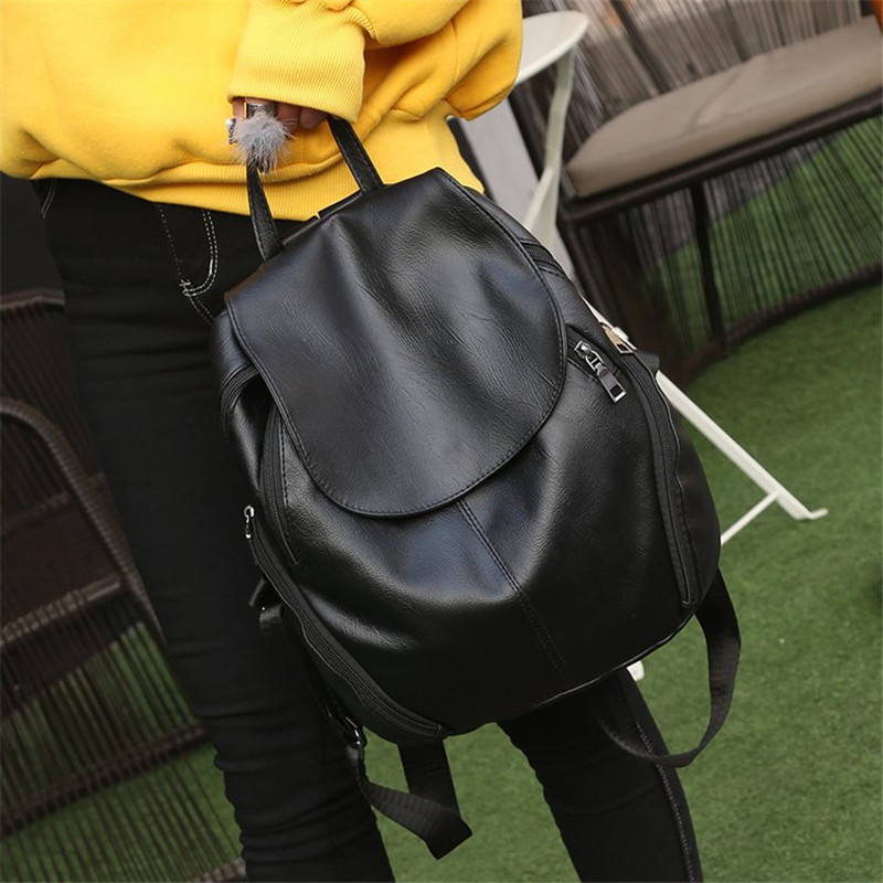 Women Big Black Backpack Lady Satchel Travel Shopping School Backpack Girl Rucksack Vintage Backpack Bag