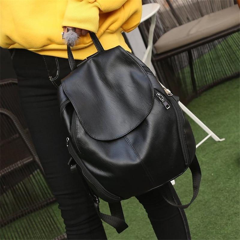 Women Big Black Backpack Lady Satchel Travel Shopping School Backpack Girl Rucksack Vintage Backpack Bag